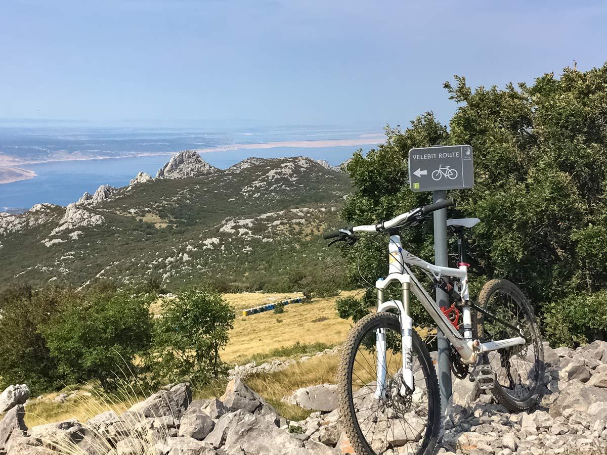 Biking Velebit route trail