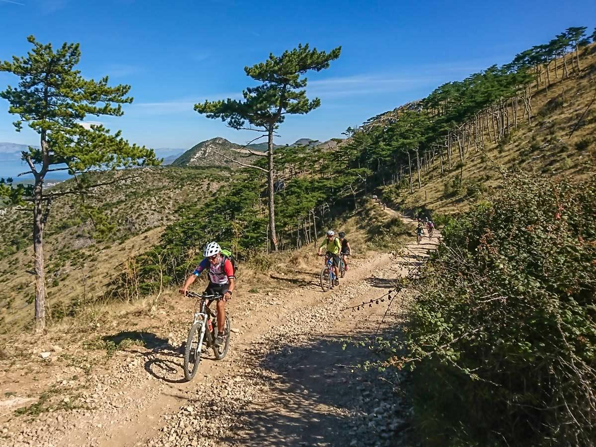 Biking Hvar trail routes