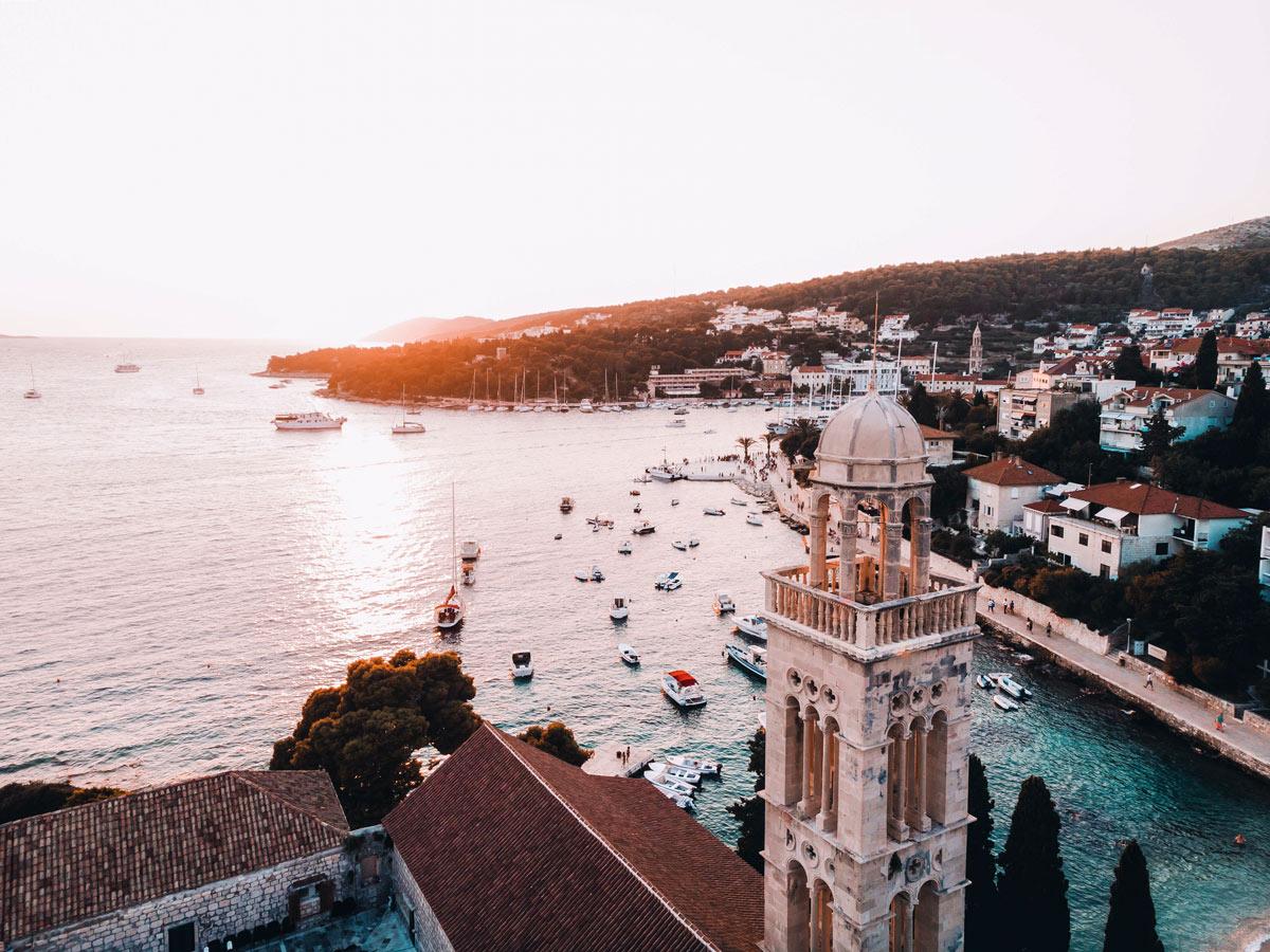 Mediterranean coast sunset