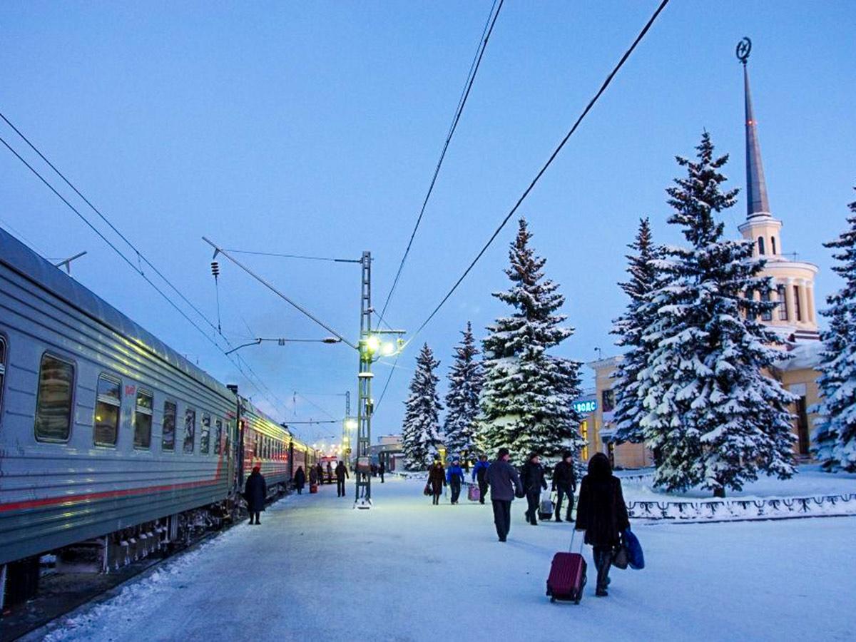 Train station in Karelia seen on Karelia multi sport tour in Russia