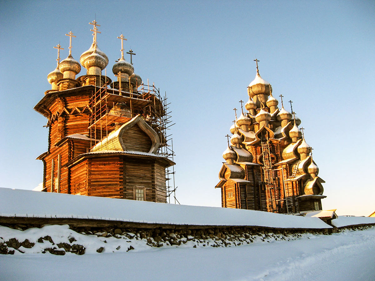 Impressive russian orthodox churches seen on Karelia multi sport tour