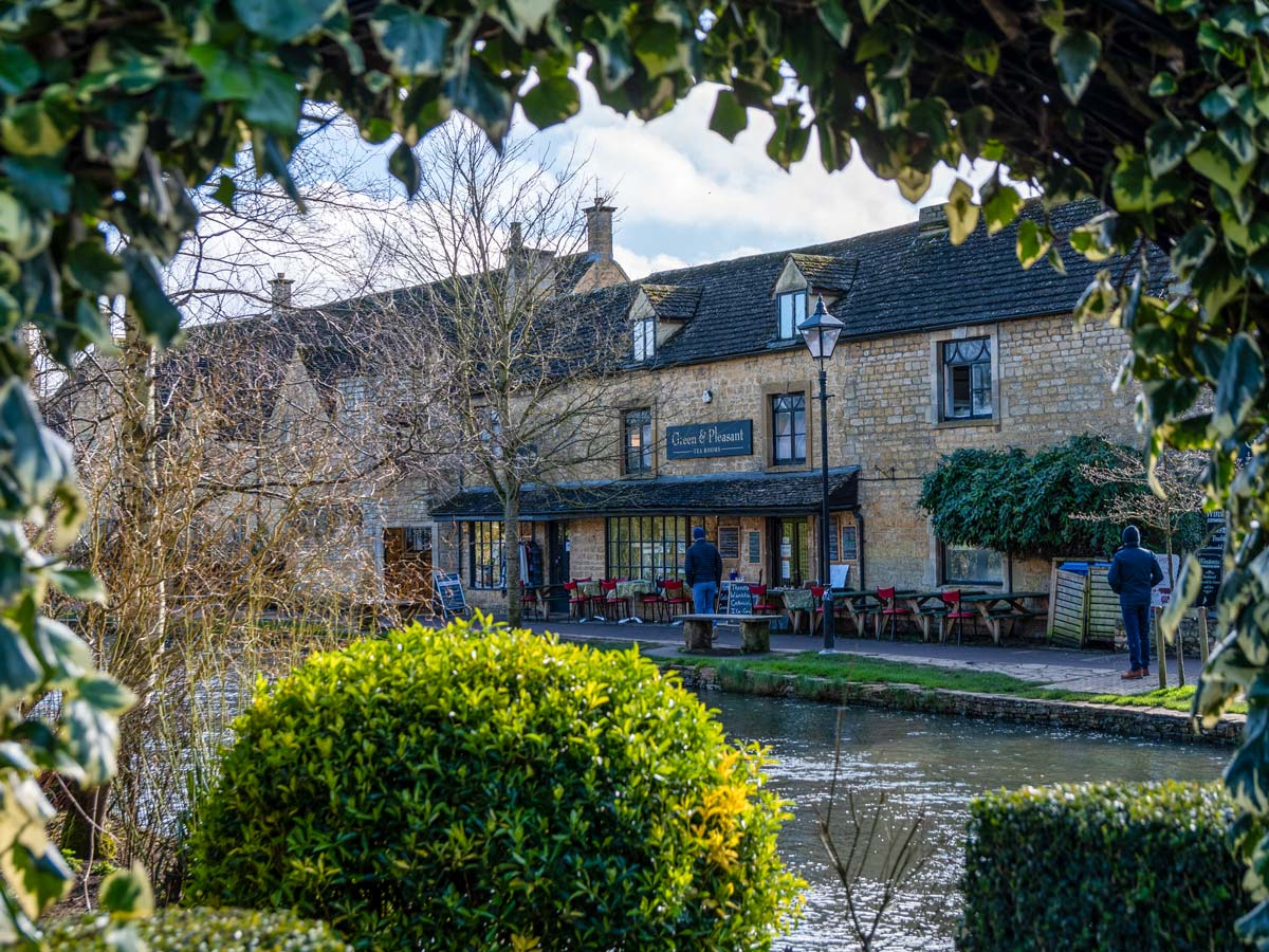 Tea Rooms bourton on the water riverfront cafe Cotswold England