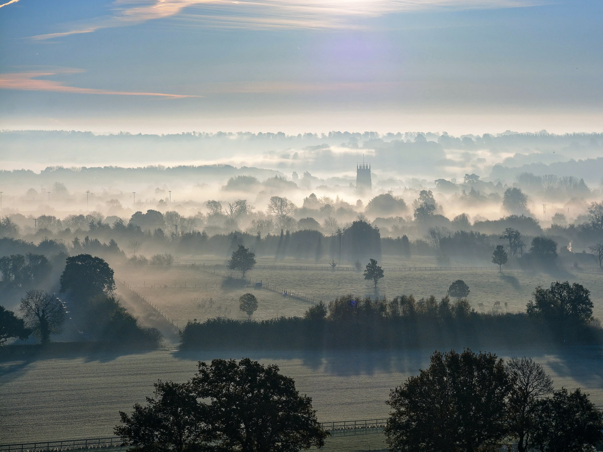 Cotswold England misty foggy village walking tour