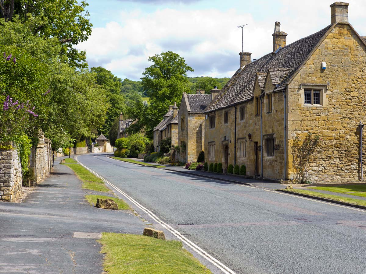 Cotswold England village stone traditional houses cottages