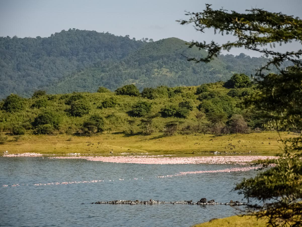 Momella Lake hiking Mount Meru Tanzania