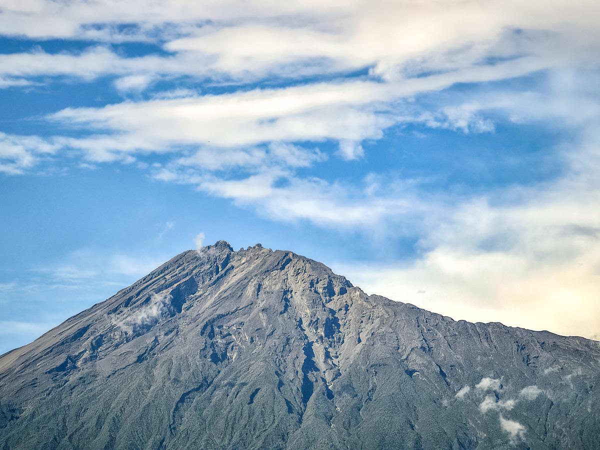 Mount Meru volcanic mountains hiking in Tanzania