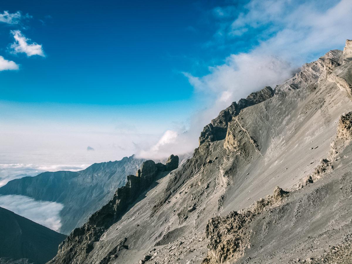 Mount Meru rocky peak hiking in Tanzania