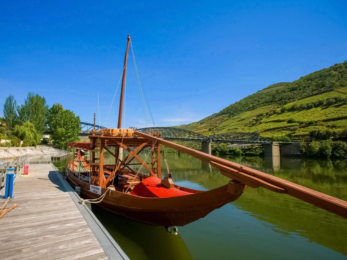 Boat docks biking cycling Portugal bike tour Duoro Valley