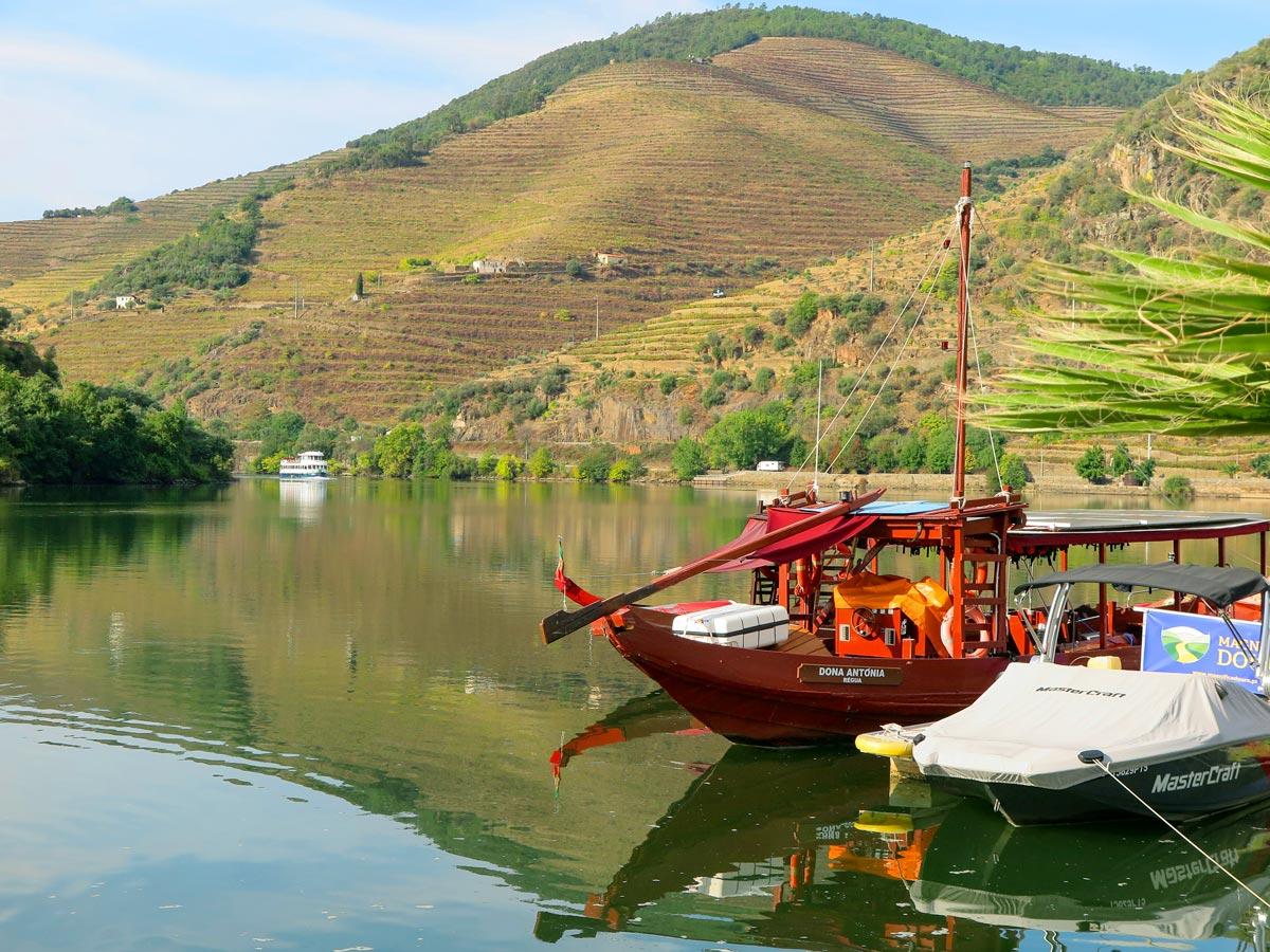 Rabelo boat river douro