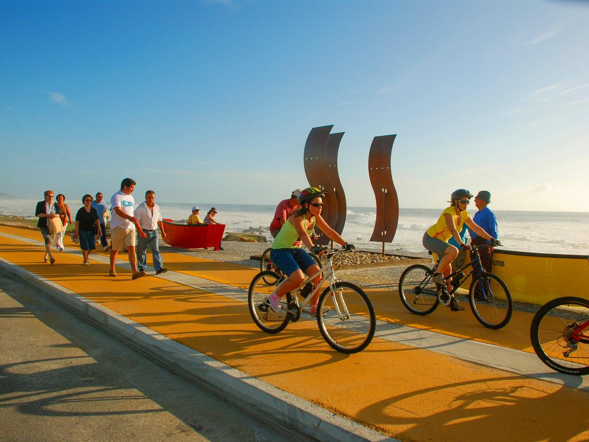 Munic pio de Caminha family adventure bike tour Minho Portugal