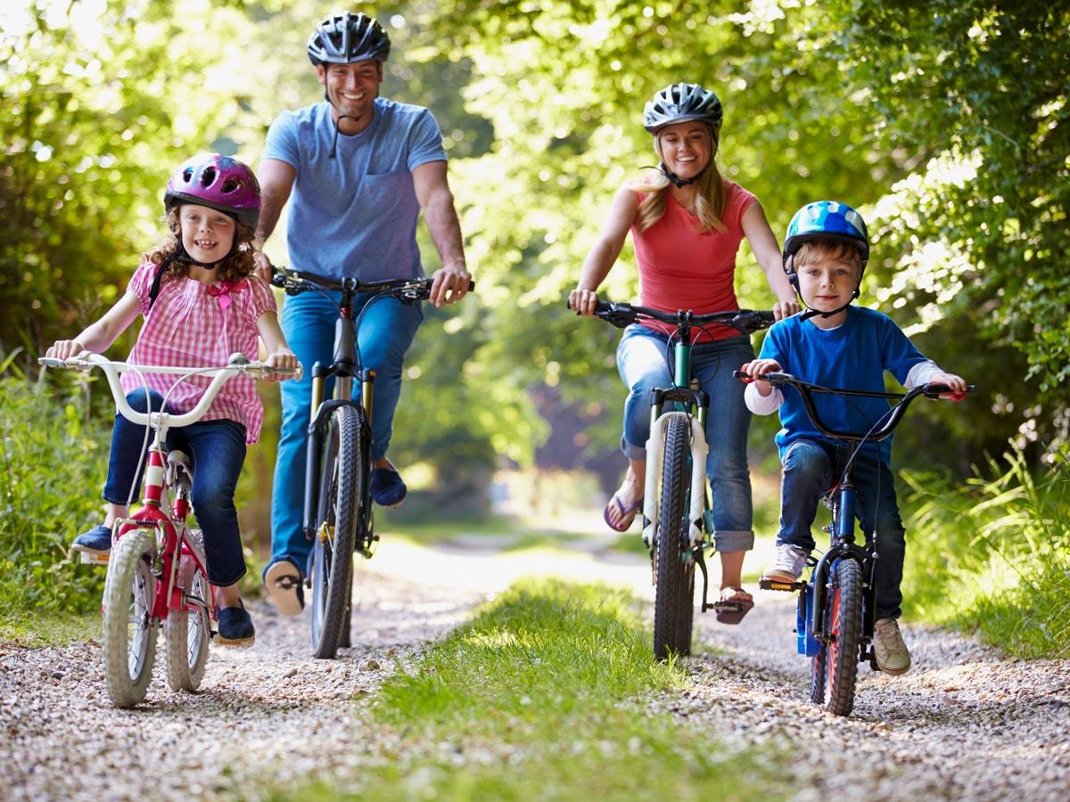 Family adventure bike tour Minho Portugal