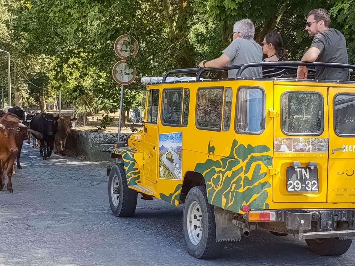 Jeep Tour Cascata Pincho family bike riding tour Minho Portugal