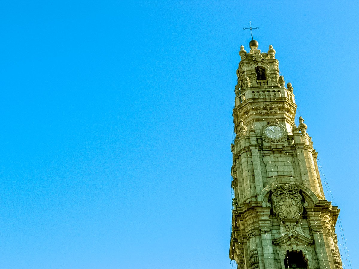 Minho and Porto church clock tower family bike riding tour Minho Portugal