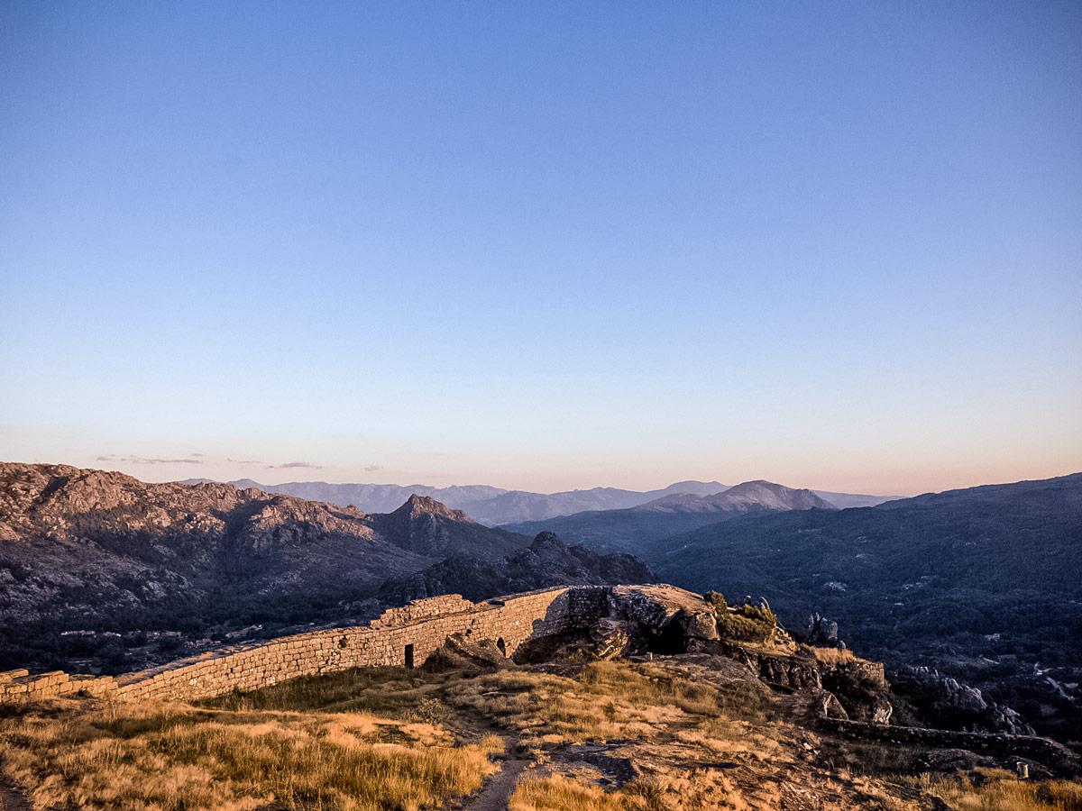 Castro Laboreiro ruins monument mountain sunset