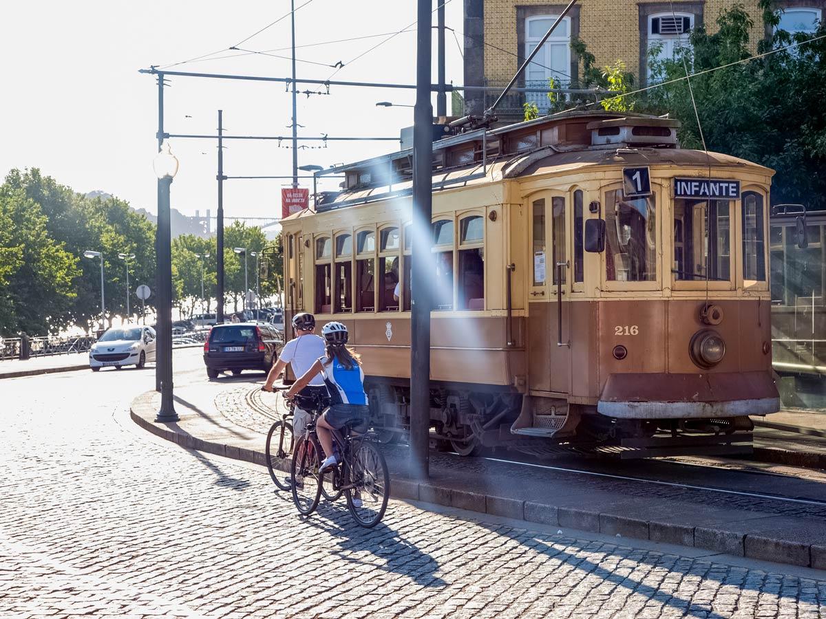 Porto street car trolly train