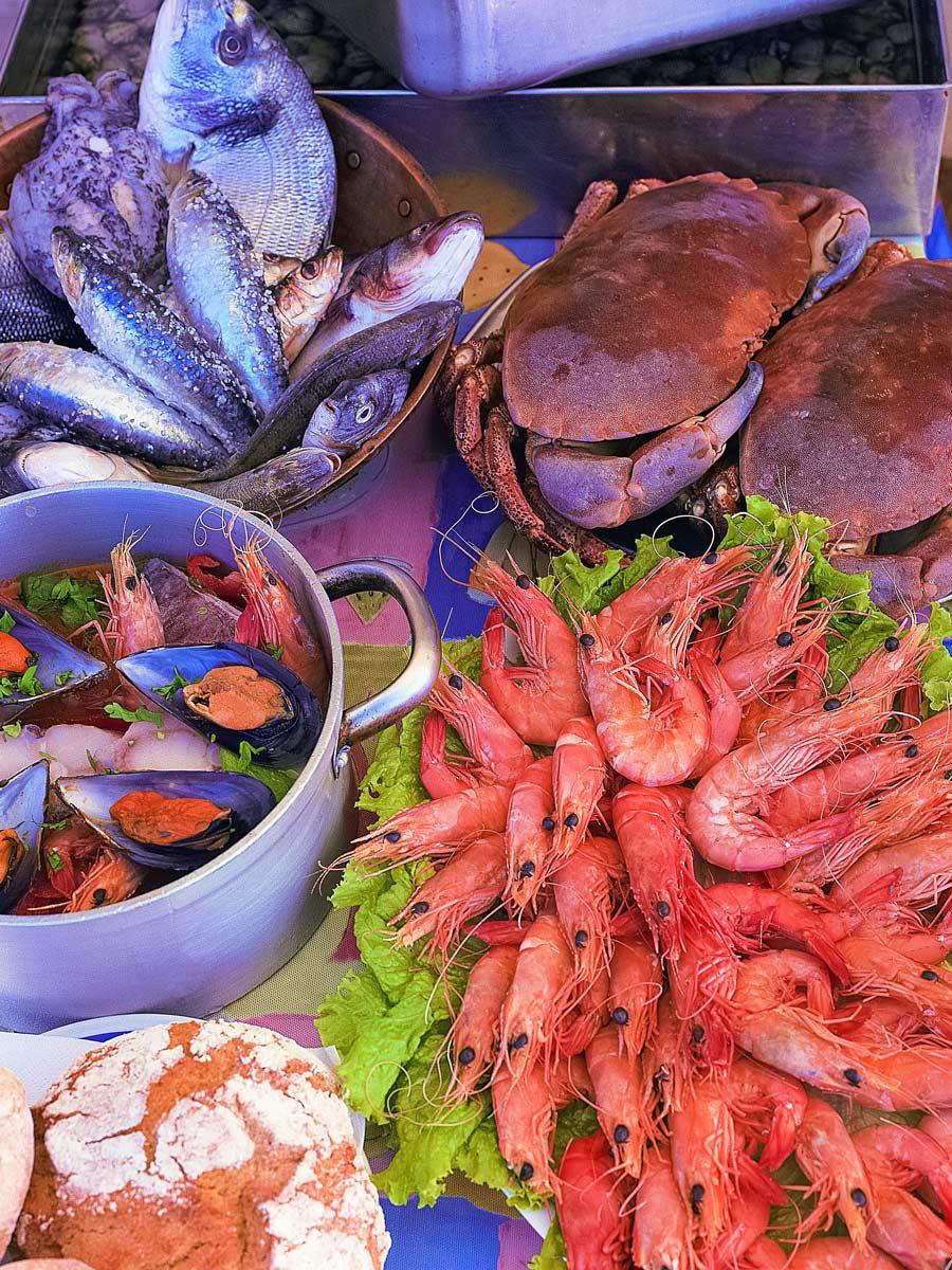 Traditional fresh seafood food