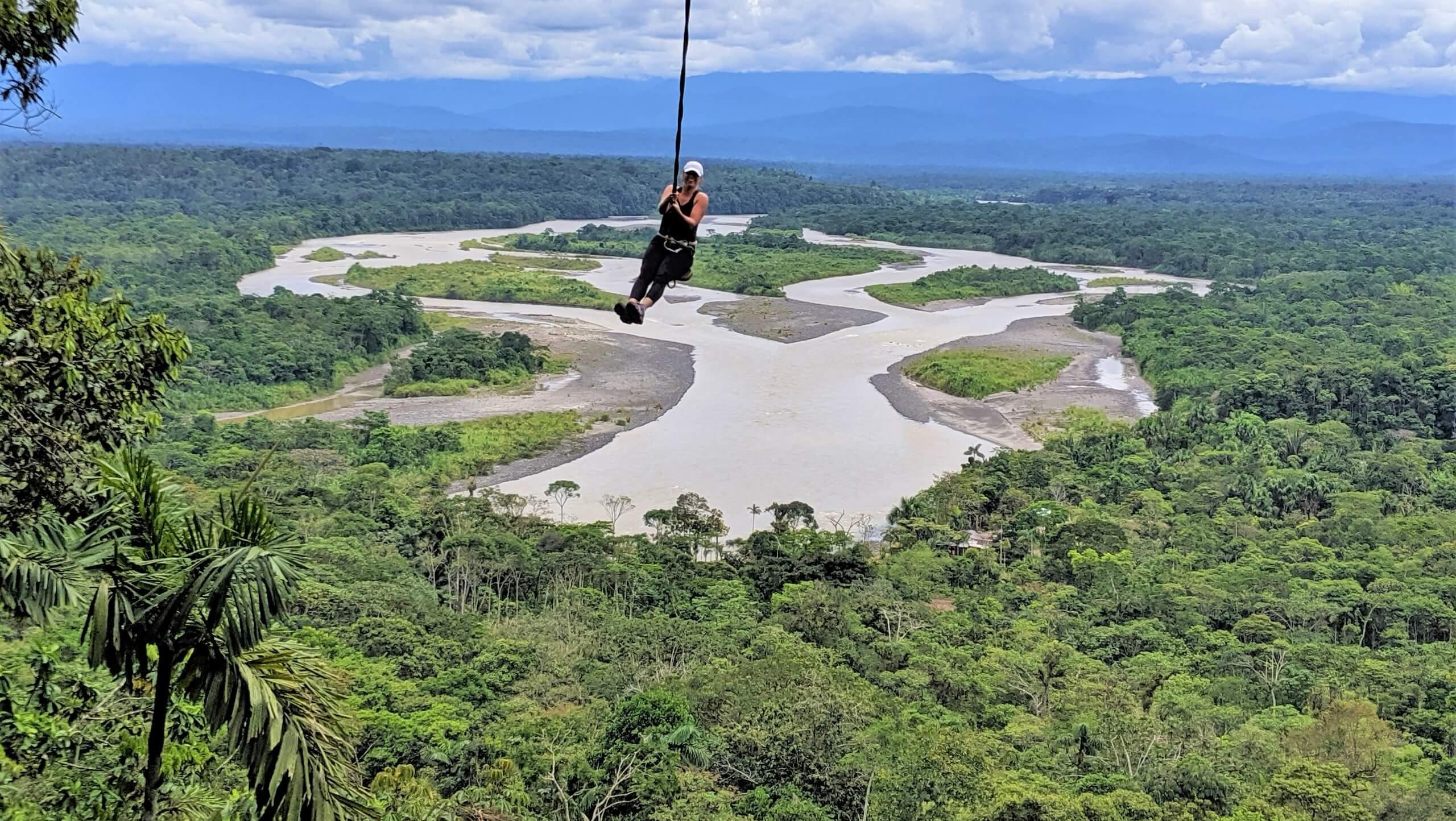 Beautiful Amazon rainforest in Ecuador