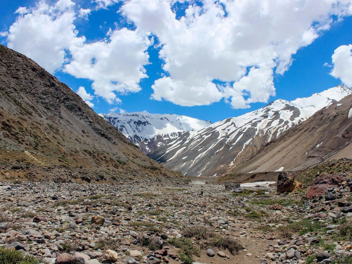 Cajon del maipo hiking trekking adventure tour Argentina