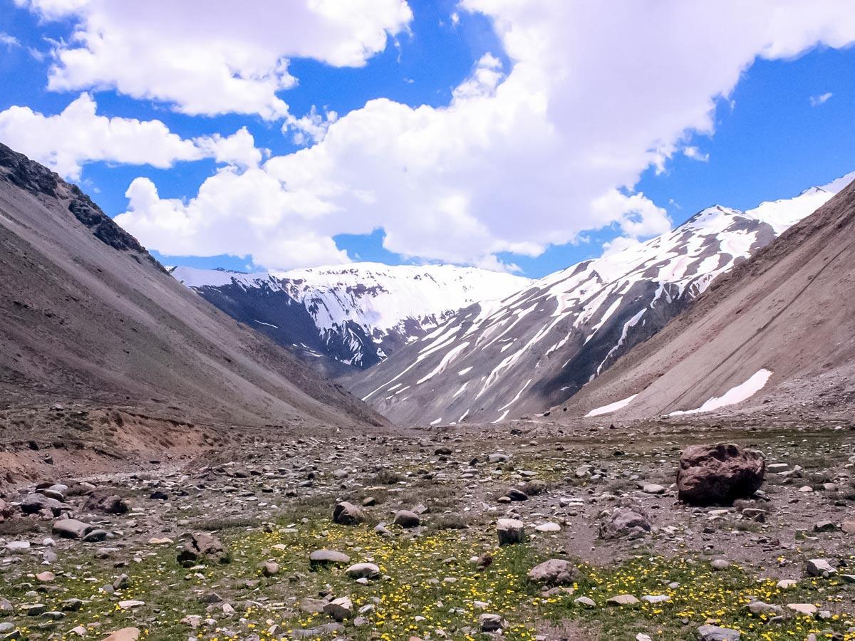 Cajon del maipo valley wildflowers hiking trekking Argentina