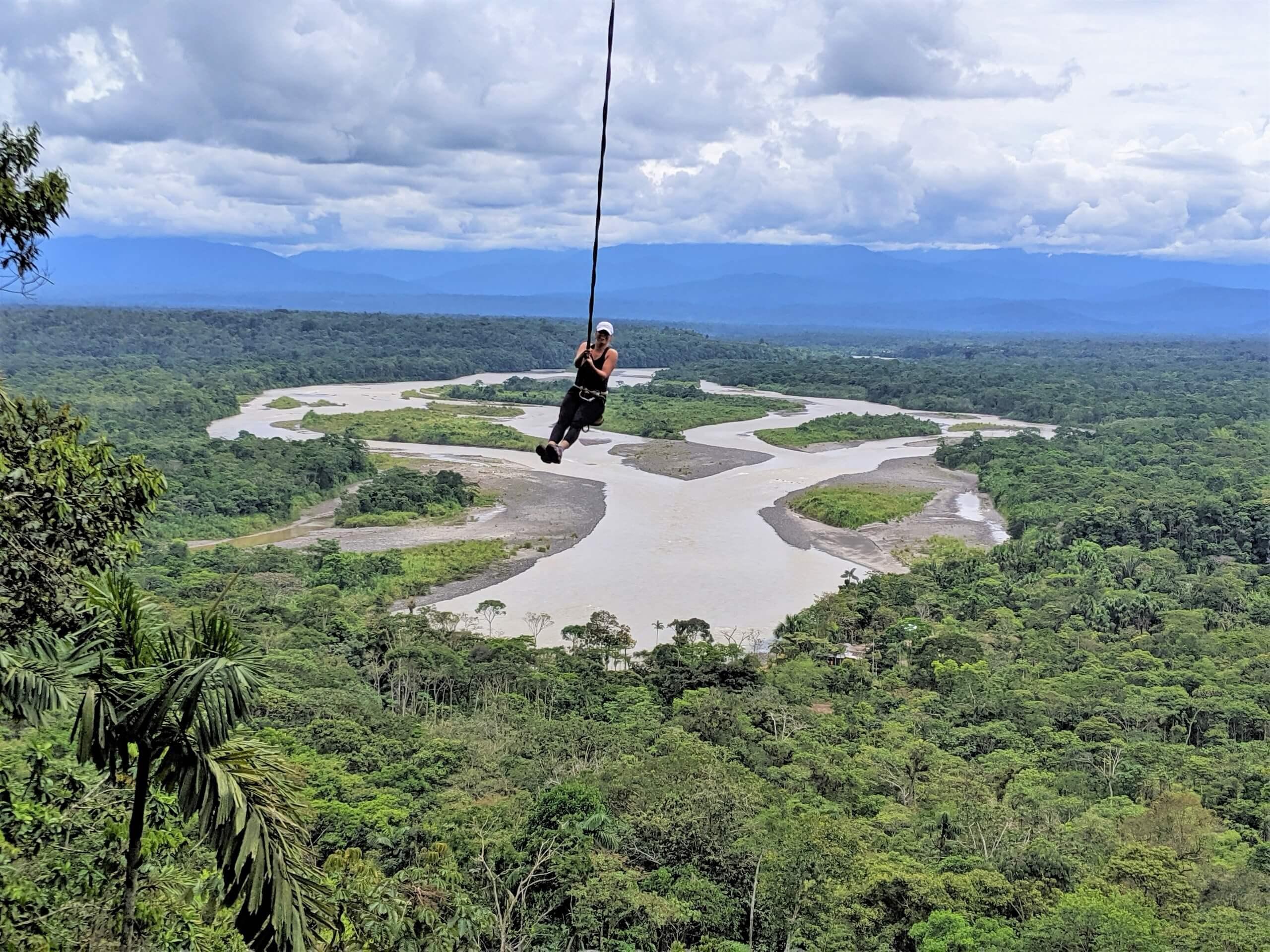 Swinging above the Ecuador rainforests