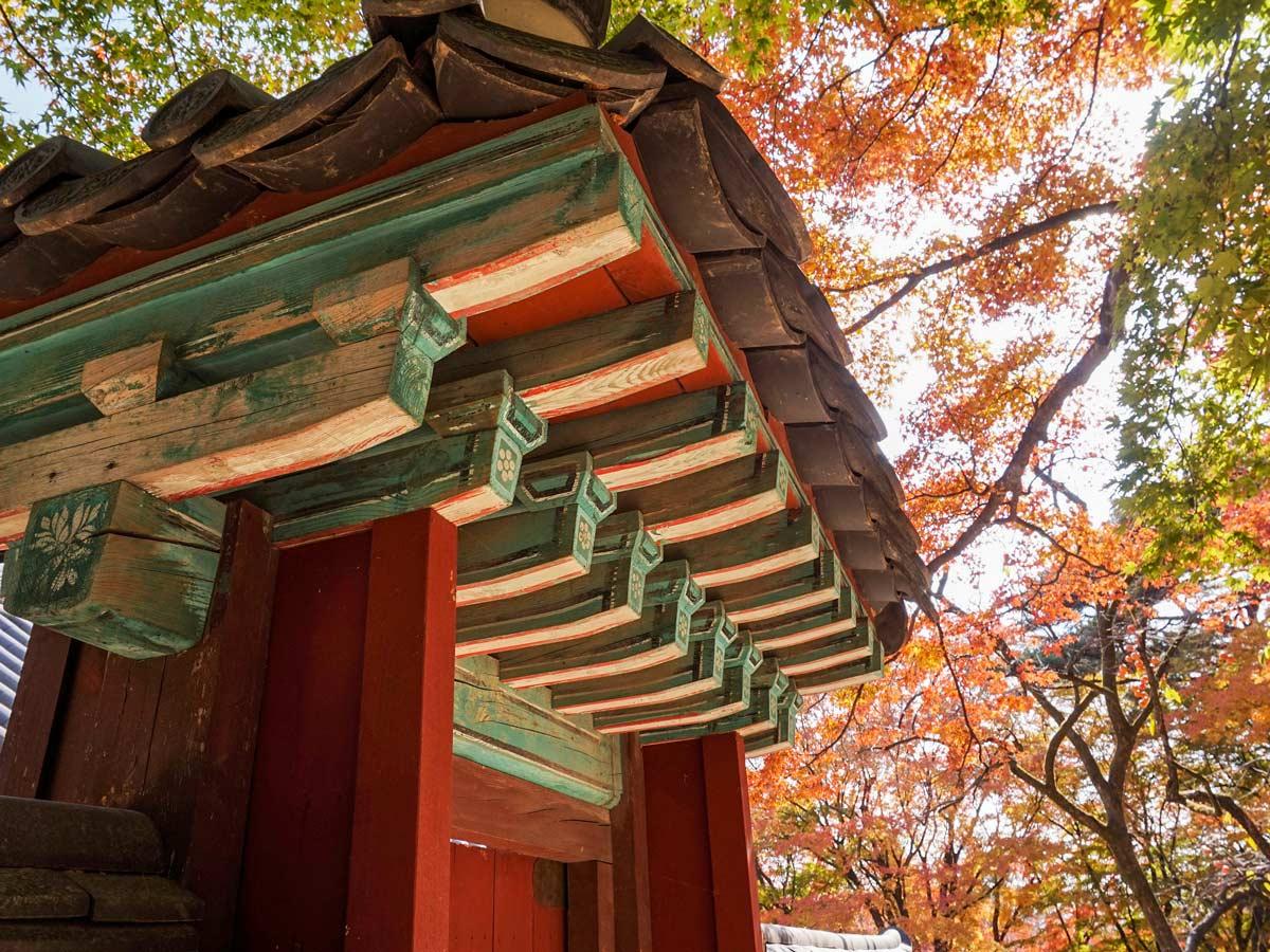 The bulguksa temple beautiful authentic arcitecture adventure bike tour South Korea