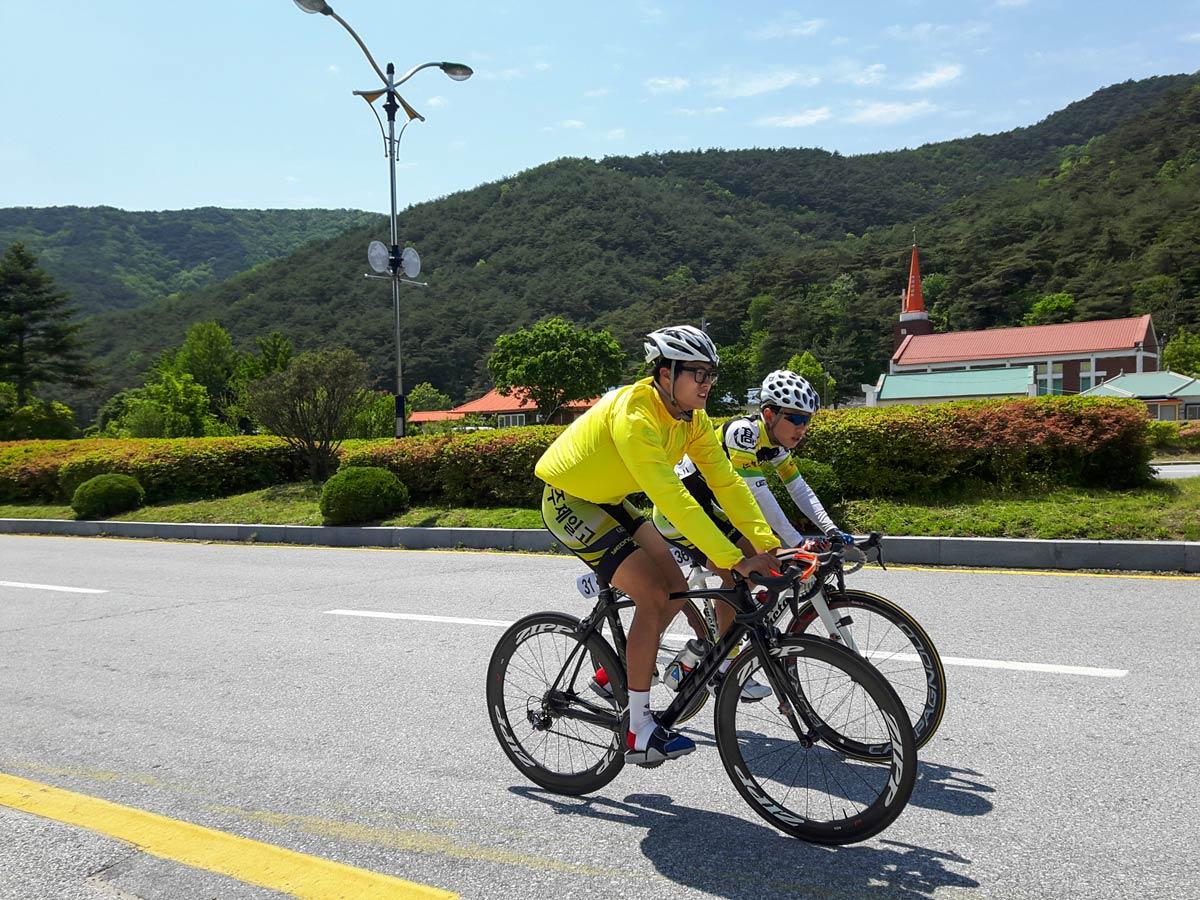 Biking along rivers adventure bike tour South Korea