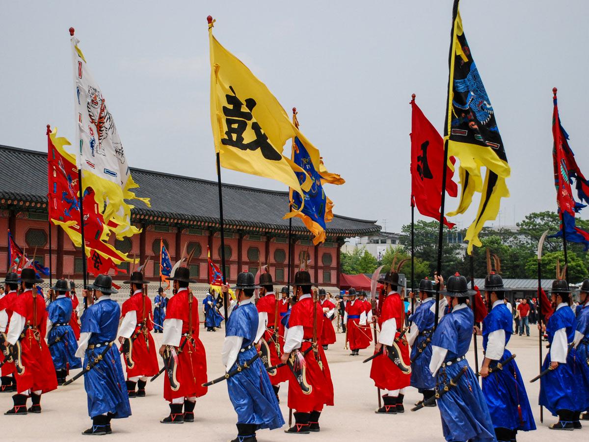 Traditional guard adventure bike tour South Korea