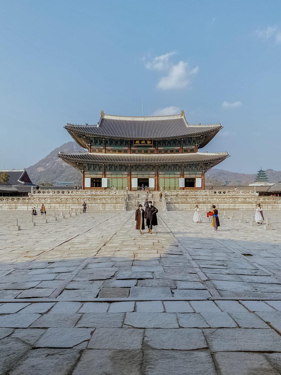 Gyeongbokgung Palace Sajik ro Sejongno Jongno gu Seoul South Korea soft adventure tour