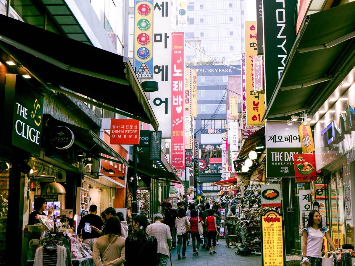 Namdaemun market South Korea soft adventure tour
