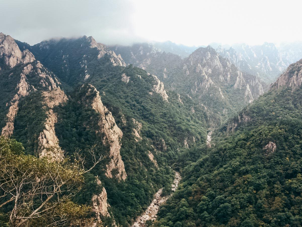 Seoraksan National Park hiking South Korea adventure trekking tour asia