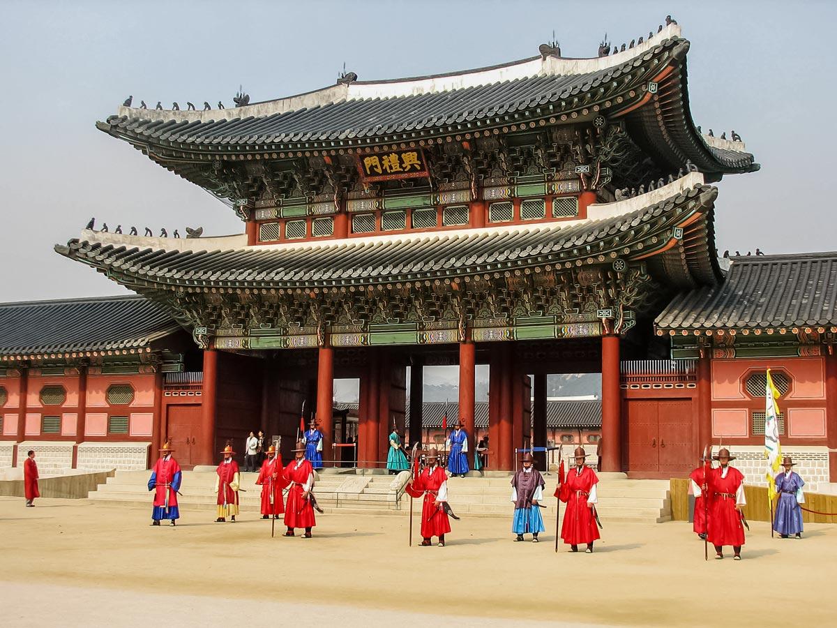 Gyeongbokgung palace Sejongno Jongno gu Seoul South Korea adventure trekking tour asia