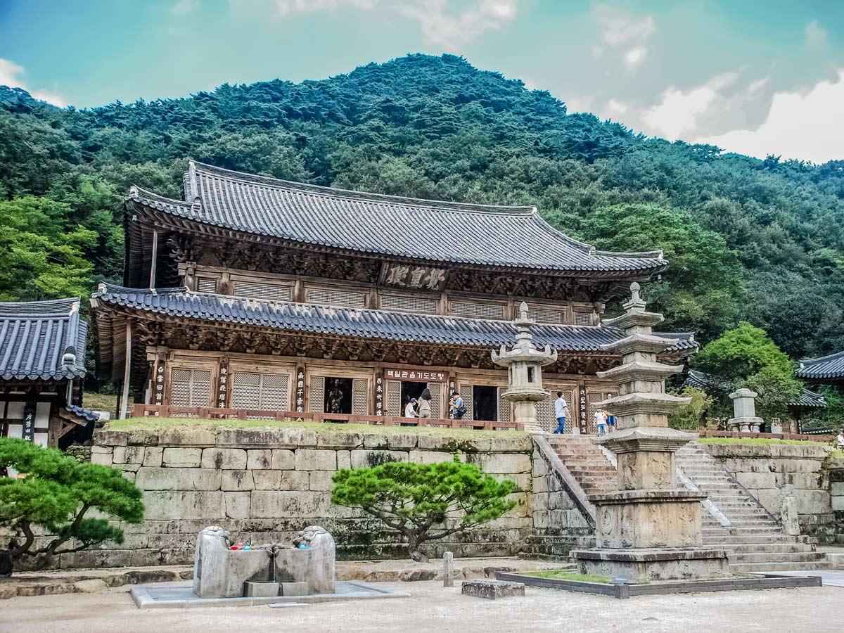 Authentic historic buildings temples exploring South Korea adventure tour