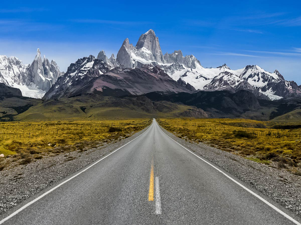 Chalten stunning mountain peak road Exploring patagonia