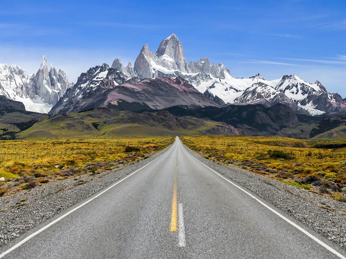 Chalten mountain peaks highway Valdez Patagonia Chile adventure tour