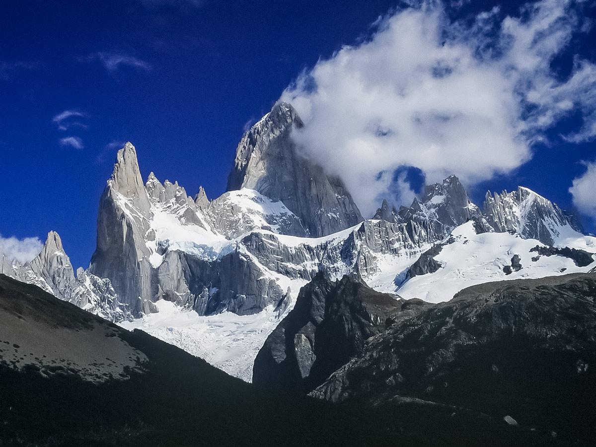 Fitz Roy mountain peaks Valdez Patagonia Chile adventure tour