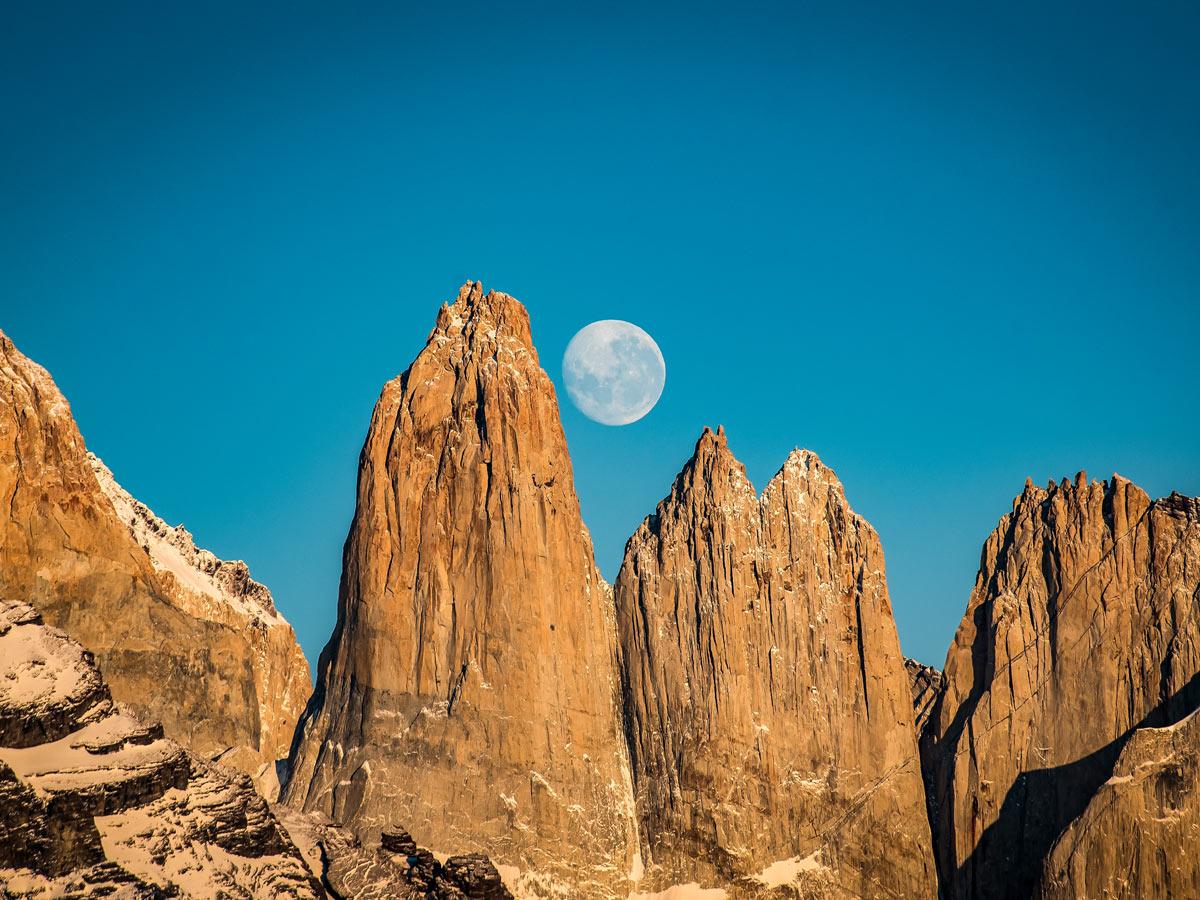 Mirador Torres moon Valdez Patagonia Chile adventure tour