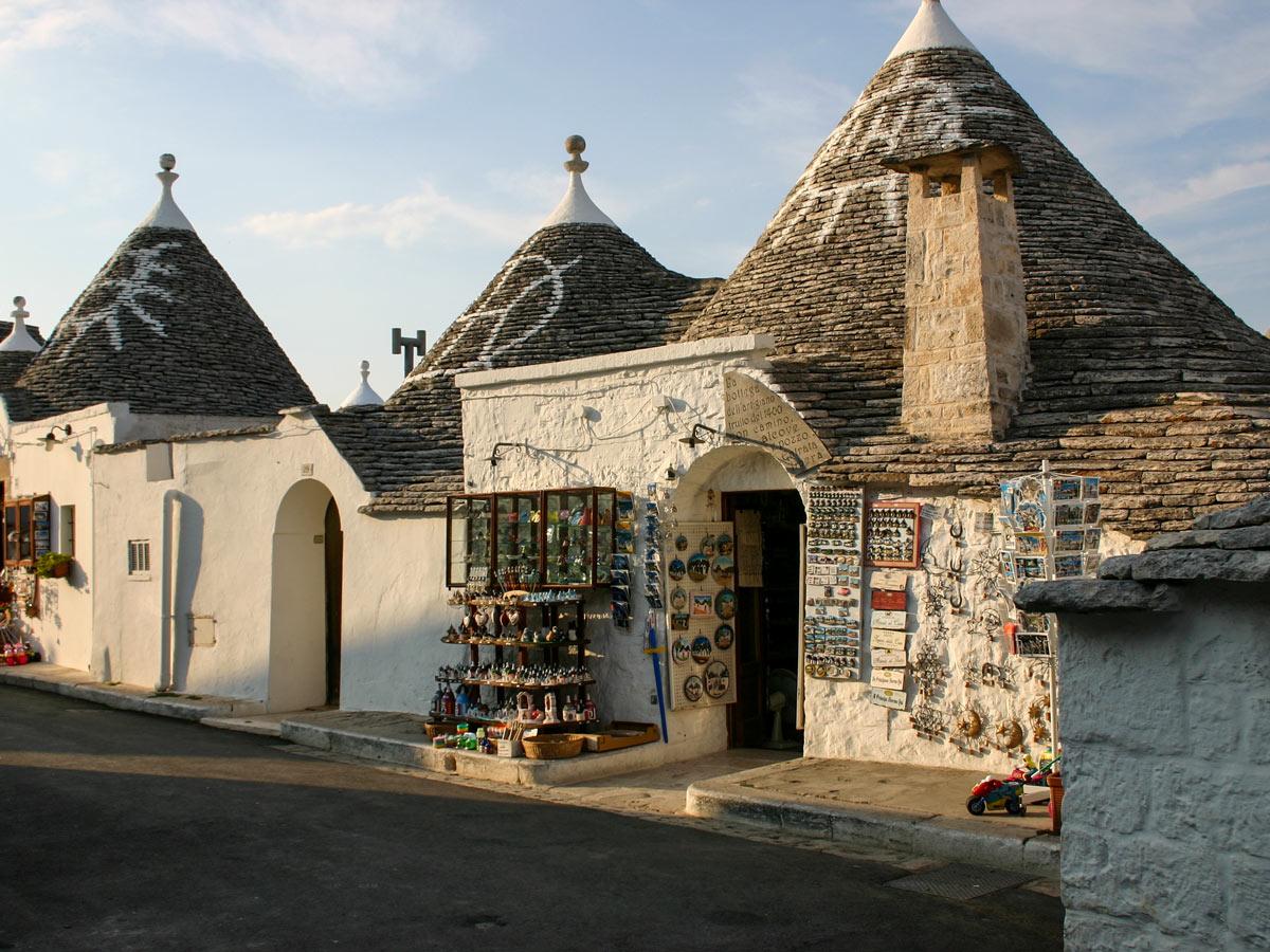 Alberobello market shops