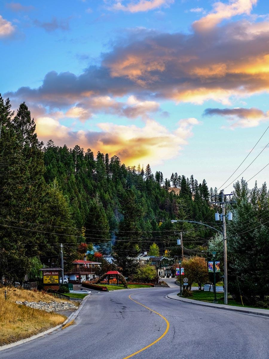 Road to radium hot springs British Columbia BC Canada