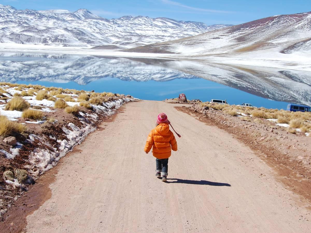 Child walking near Laguna Altiplanicas