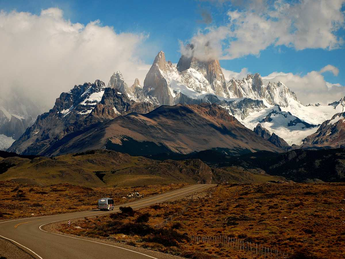 Fitz Roy peaks in Patagonia (Guided Southern Route Tour)
