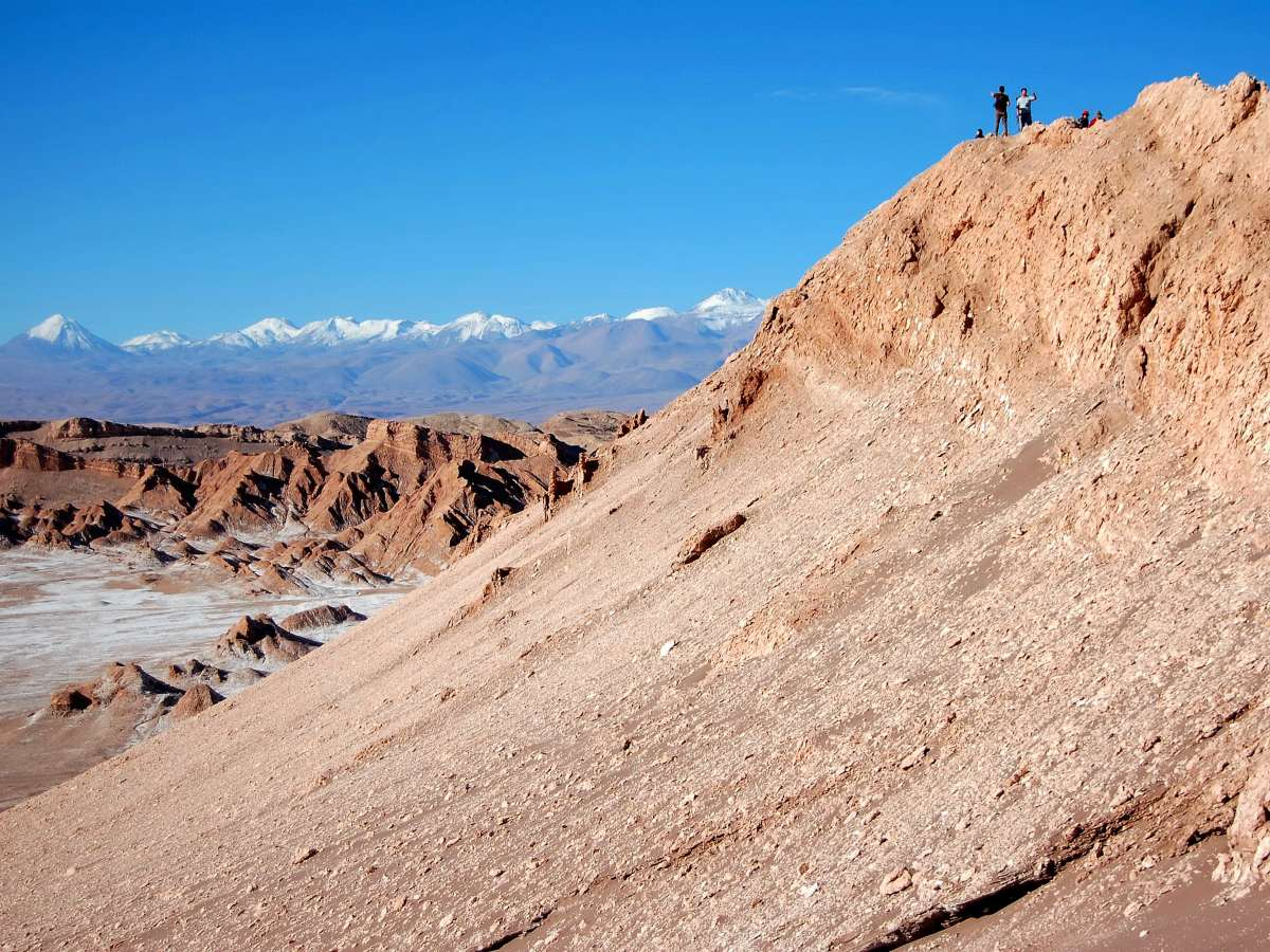 Death valley with Andean mountains behind