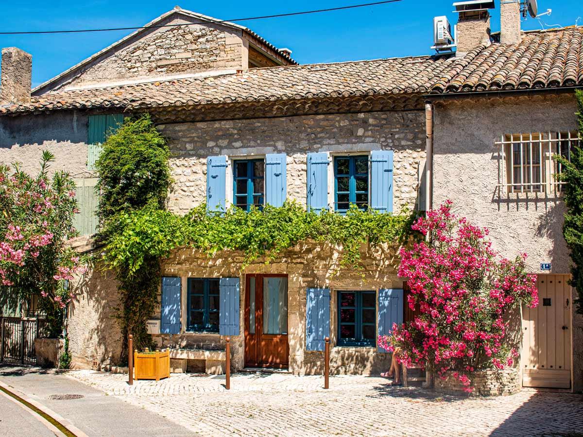 Saint Remy de Provence cottages ad cobblestone streets exploring Provence Alpilles France