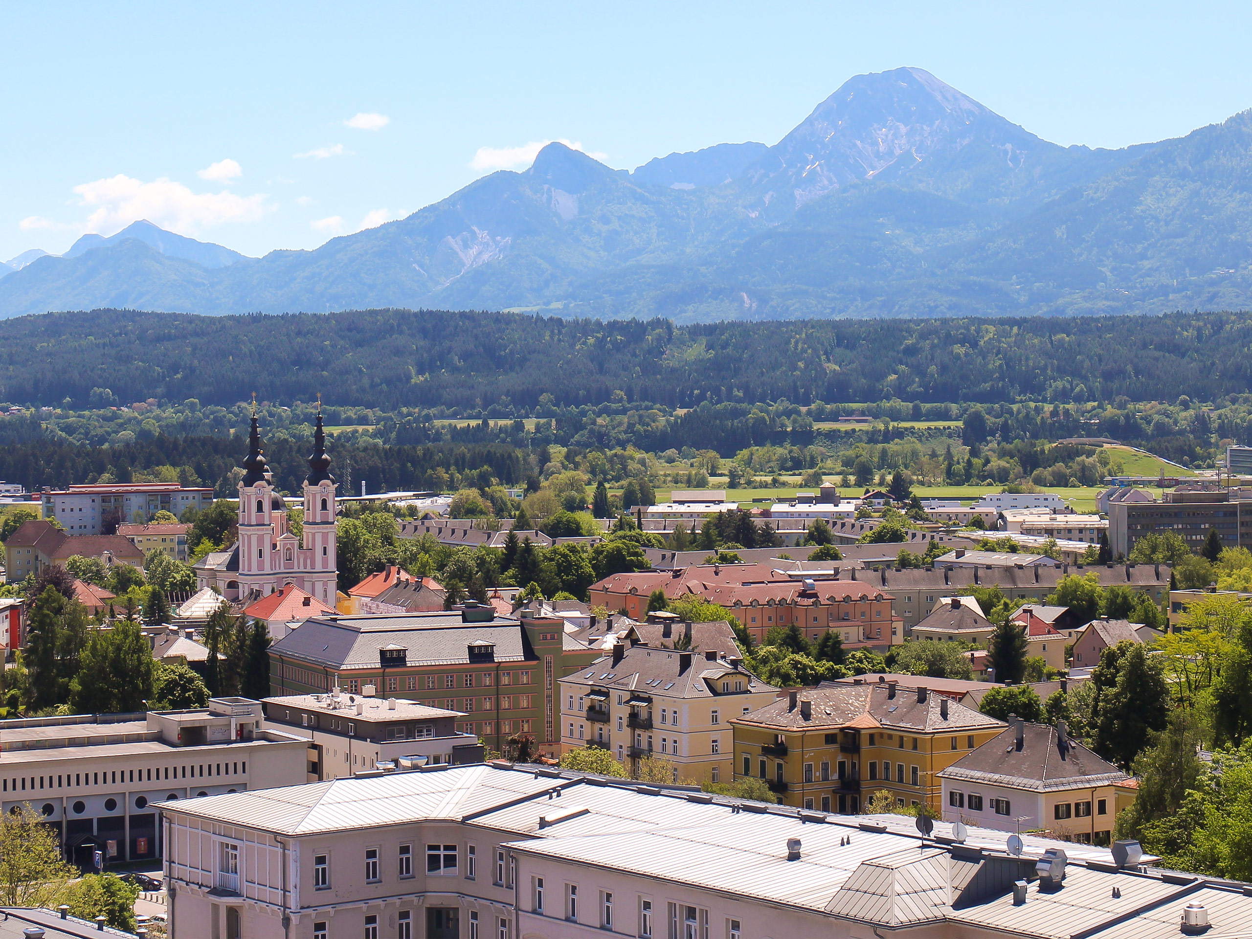 Villach Cityscape and Mountains