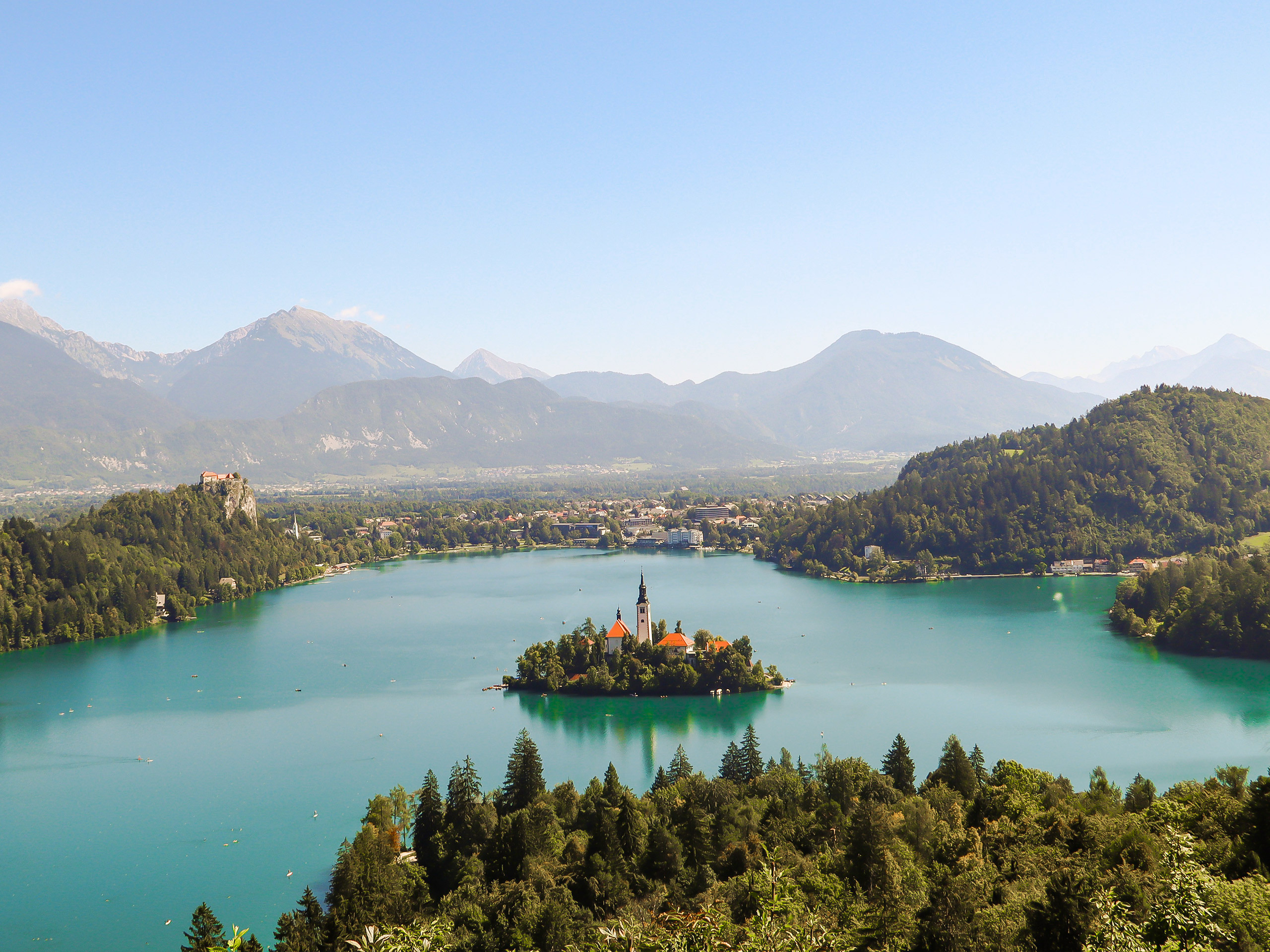 Bled City and Church