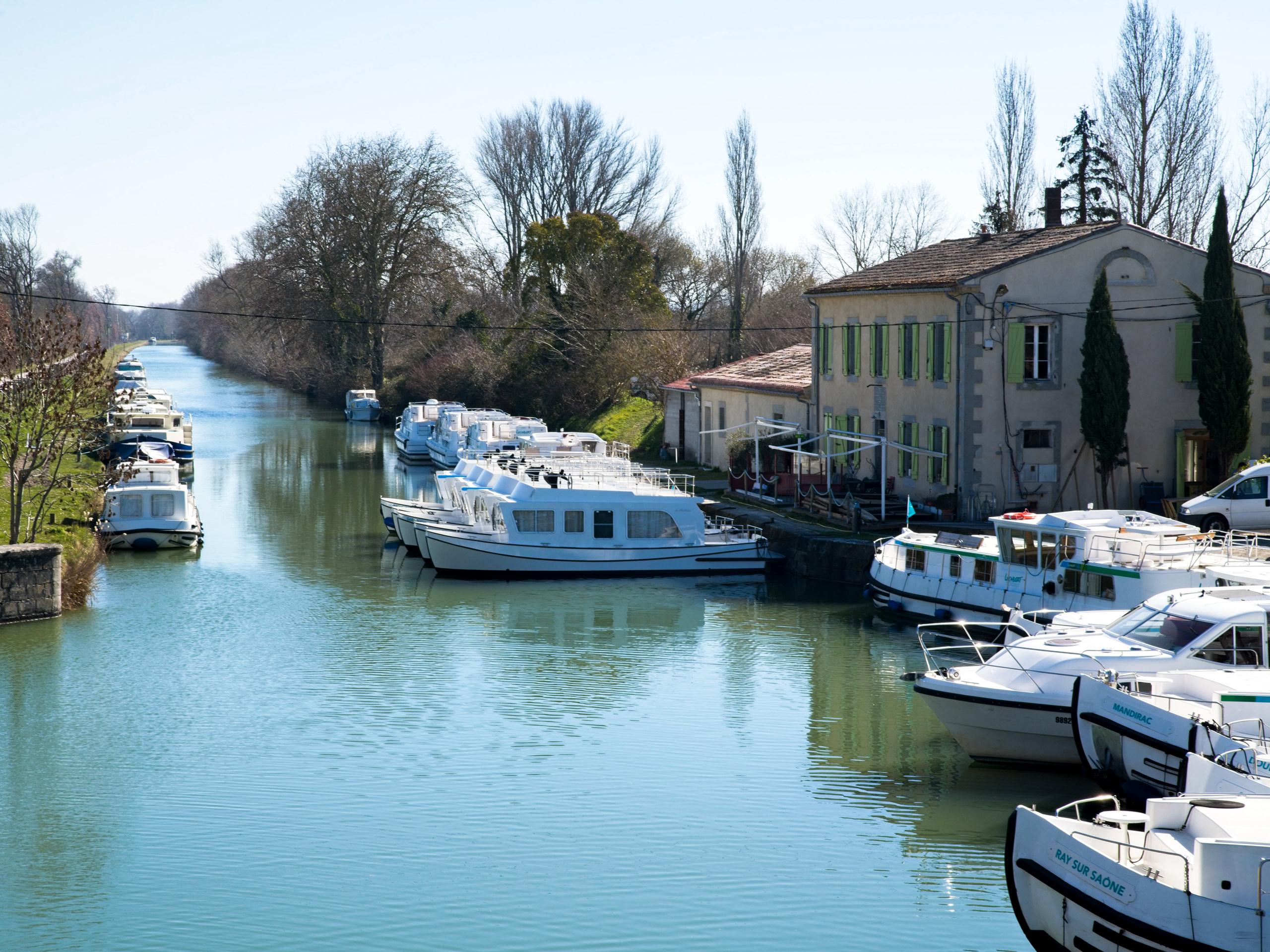 France Canal du Midi Boat station