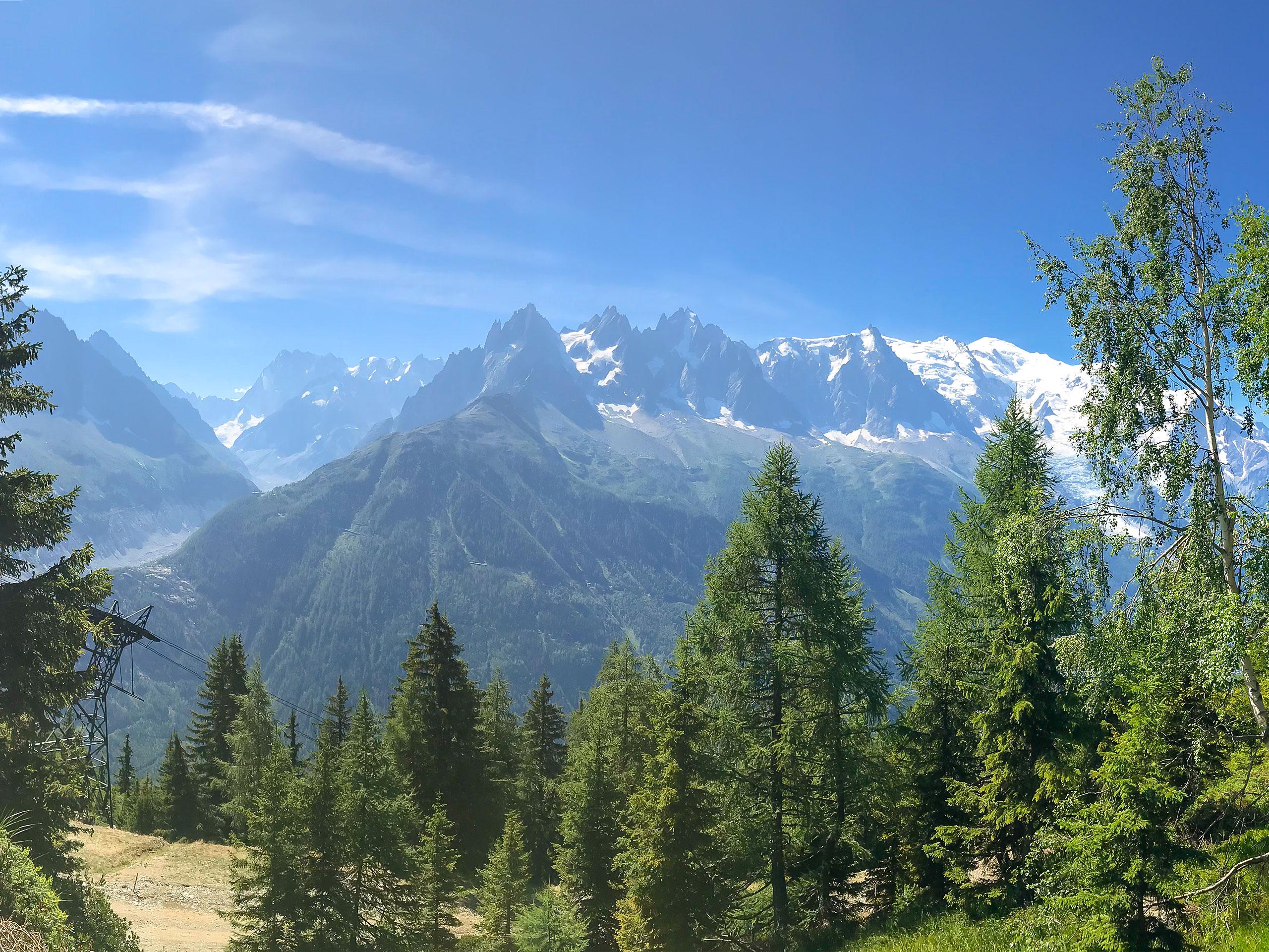 mountain peaks view