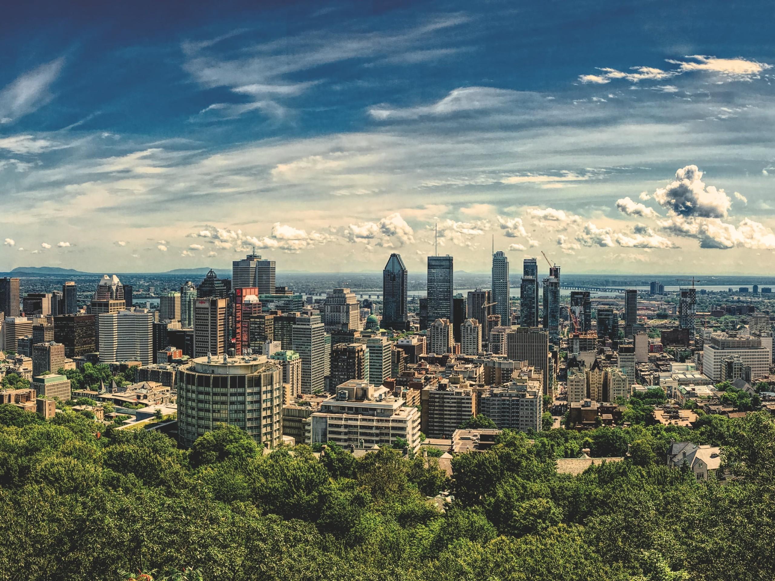Montreal Skyline in Quebec
