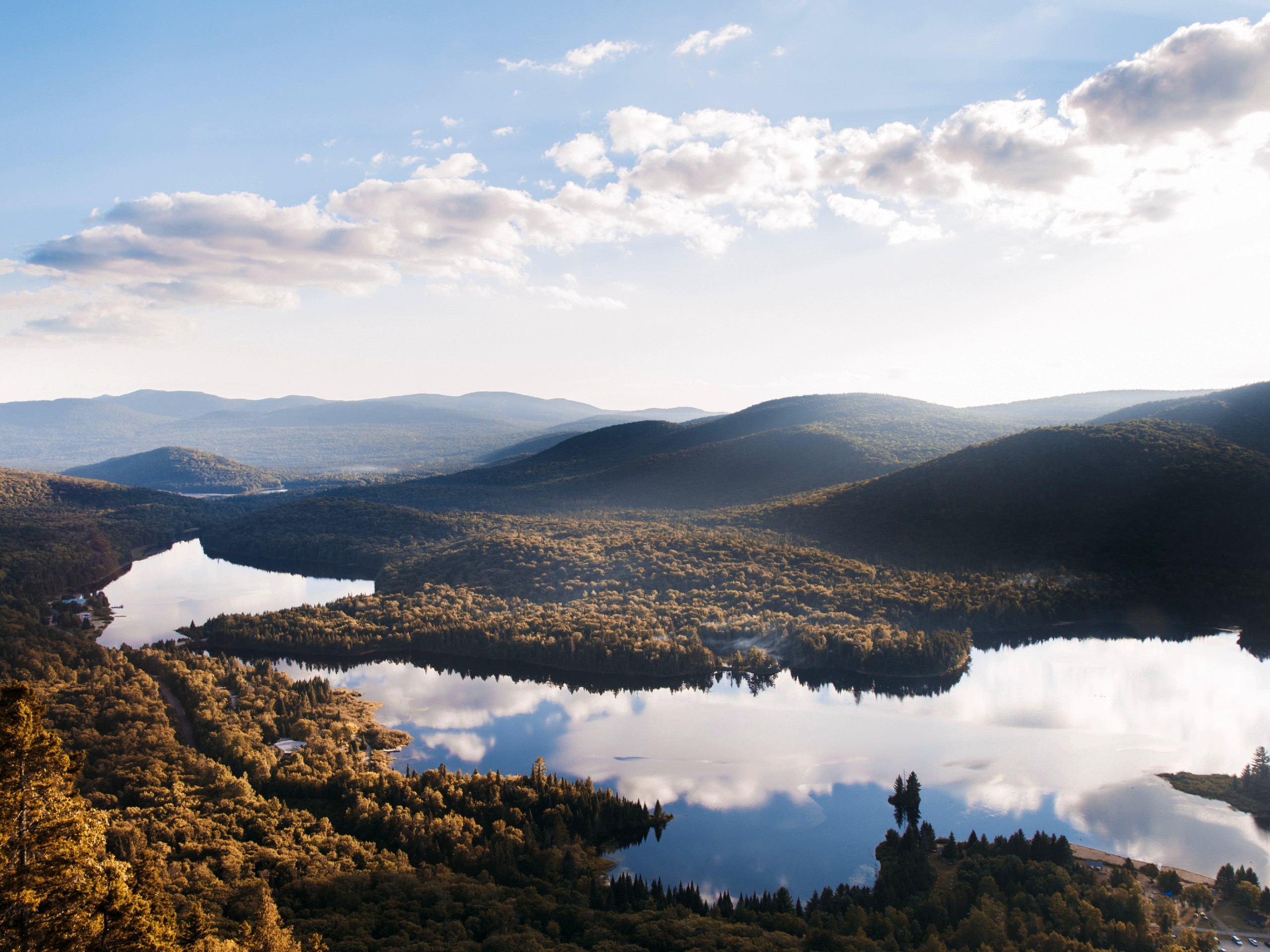 Reflections in the lake at Mont Tremblant (Quebec)