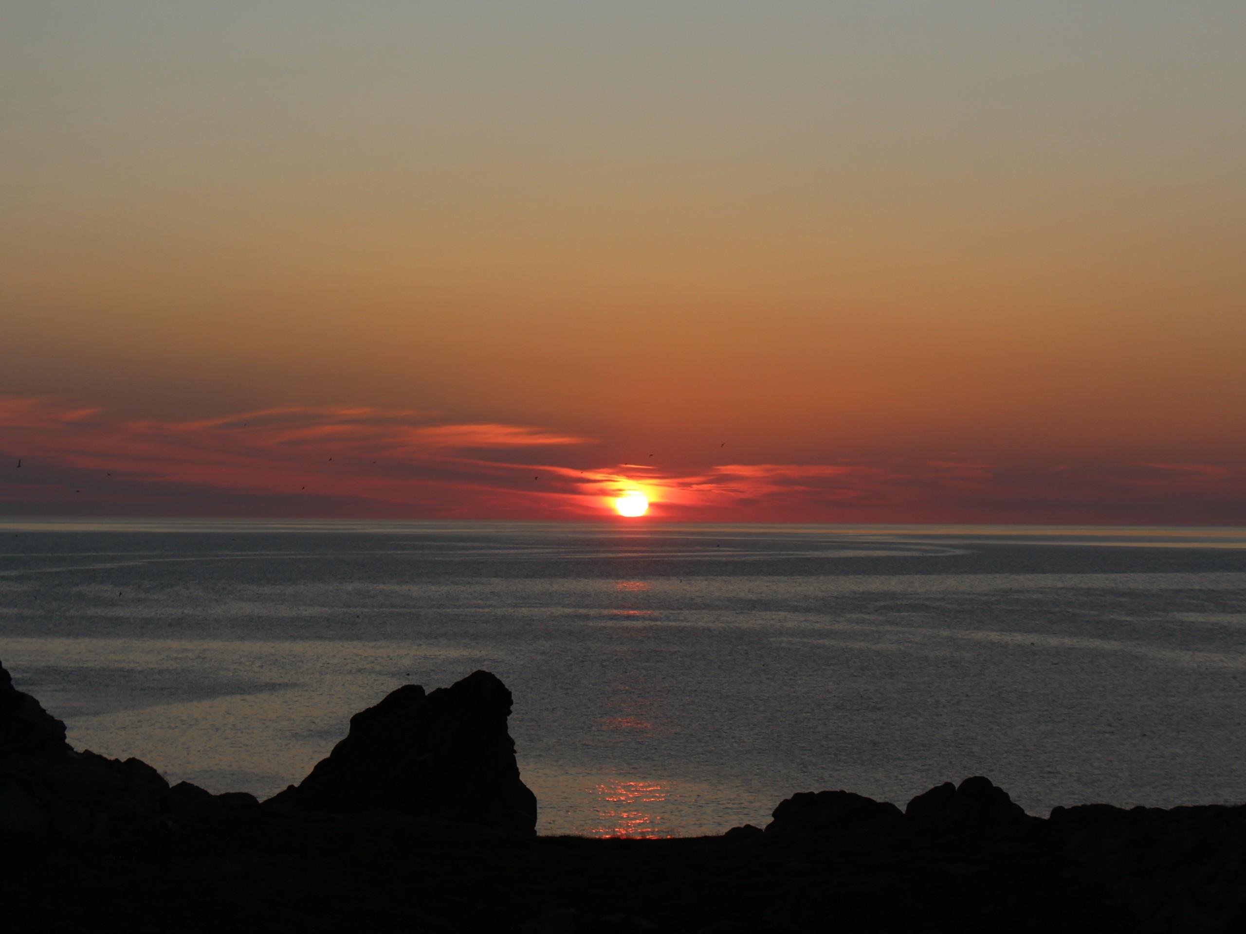 Sunset over the Atlantic Ocean (Canada)