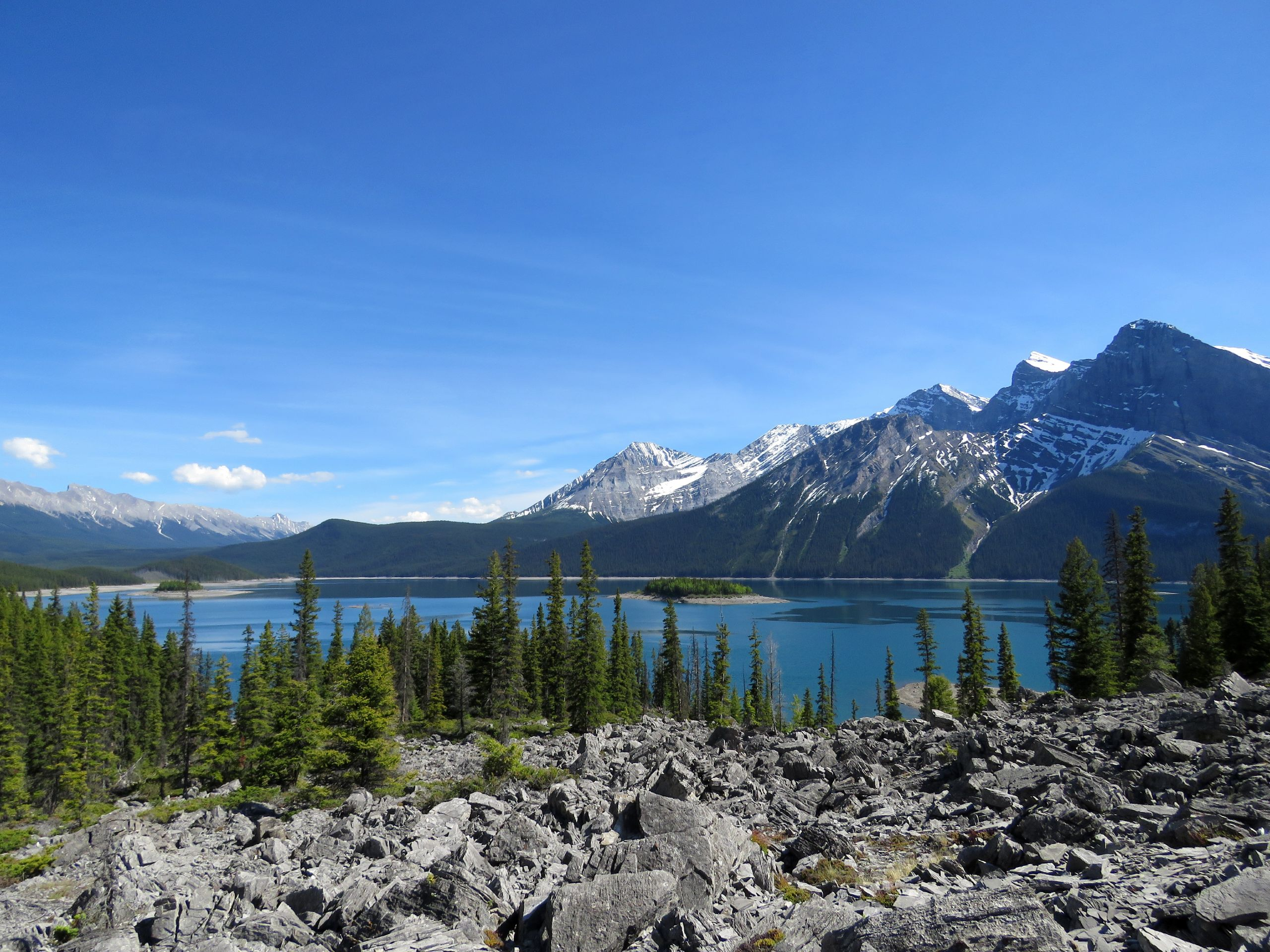 Beautiful Canadian wilderness in the Rocky Mountains
